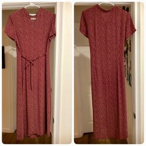 Unique vintage burgundy dress